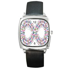 Free Symbol Hands Square Metal Watch by Mariart