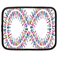 Free Symbol Hands Netbook Case (xl)  by Mariart