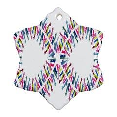 Free Symbol Hands Snowflake Ornament (two Sides) by Mariart