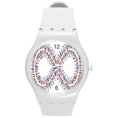 Free Symbol Hands Round Plastic Sport Watch (m) by Mariart