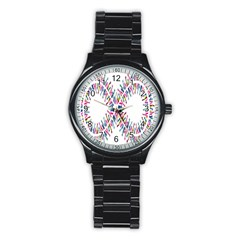 Free Symbol Hands Stainless Steel Round Watch by Mariart