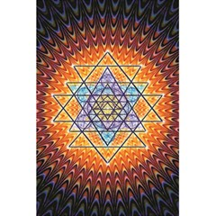 Cosmik Triangle Space Rainbow Light Blue Gold Orange 5 5  X 8 5  Notebooks by Mariart
