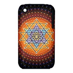 Cosmik Triangle Space Rainbow Light Blue Gold Orange Iphone 3s/3gs by Mariart