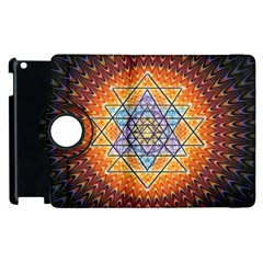 Cosmik Triangle Space Rainbow Light Blue Gold Orange Apple Ipad 3/4 Flip 360 Case by Mariart