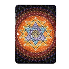 Cosmik Triangle Space Rainbow Light Blue Gold Orange Samsung Galaxy Tab 2 (10 1 ) P5100 Hardshell Case  by Mariart