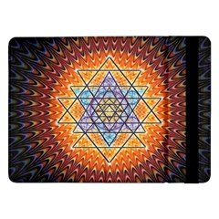 Cosmik Triangle Space Rainbow Light Blue Gold Orange Samsung Galaxy Tab Pro 12 2  Flip Case by Mariart