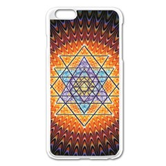 Cosmik Triangle Space Rainbow Light Blue Gold Orange Apple Iphone 6 Plus/6s Plus Enamel White Case by Mariart