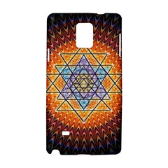 Cosmik Triangle Space Rainbow Light Blue Gold Orange Samsung Galaxy Note 4 Hardshell Case by Mariart