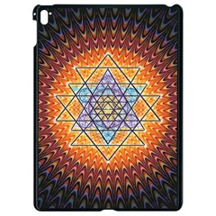 Cosmik Triangle Space Rainbow Light Blue Gold Orange Apple Ipad Pro 9 7   Black Seamless Case by Mariart