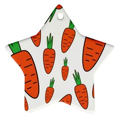 Fruit Vegetable Carrots Star Ornament (two Sides) by Mariart