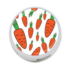 Fruit Vegetable Carrots 4 Port Usb Hub (two Sides)  by Mariart
