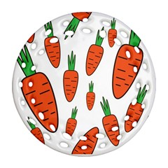 Fruit Vegetable Carrots Round Filigree Ornament (two Sides) by Mariart