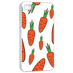 Fruit Vegetable Carrots Apple Iphone 4/4s Seamless Case (white) by Mariart