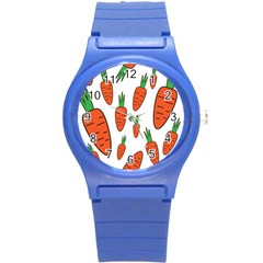 Fruit Vegetable Carrots Round Plastic Sport Watch (s) by Mariart