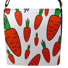 Fruit Vegetable Carrots Flap Messenger Bag (s) by Mariart