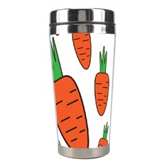 Fruit Vegetable Carrots Stainless Steel Travel Tumblers by Mariart