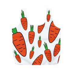 Fruit Vegetable Carrots Full Print Recycle Bags (m)  by Mariart