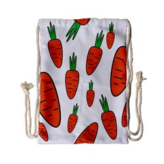 Fruit Vegetable Carrots Drawstring Bag (small) by Mariart