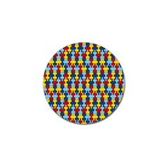 Fuzzle Red Blue Yellow Colorful Golf Ball Marker (4 Pack) by Mariart