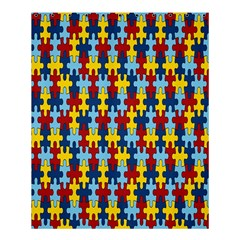 Fuzzle Red Blue Yellow Colorful Shower Curtain 60  X 72  (medium)  by Mariart