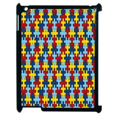 Fuzzle Red Blue Yellow Colorful Apple Ipad 2 Case (black) by Mariart