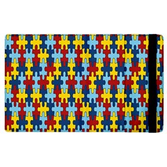 Fuzzle Red Blue Yellow Colorful Apple Ipad 2 Flip Case by Mariart