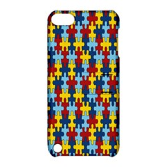 Fuzzle Red Blue Yellow Colorful Apple Ipod Touch 5 Hardshell Case With Stand by Mariart