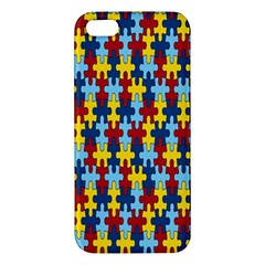 Fuzzle Red Blue Yellow Colorful Iphone 5s/ Se Premium Hardshell Case by Mariart