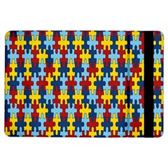 Fuzzle Red Blue Yellow Colorful Ipad Air Flip by Mariart