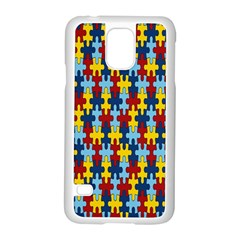 Fuzzle Red Blue Yellow Colorful Samsung Galaxy S5 Case (white) by Mariart