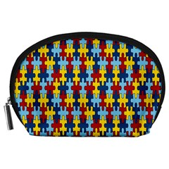 Fuzzle Red Blue Yellow Colorful Accessory Pouches (large)  by Mariart