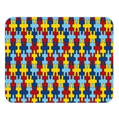 Fuzzle Red Blue Yellow Colorful Double Sided Flano Blanket (large)  by Mariart