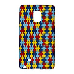 Fuzzle Red Blue Yellow Colorful Galaxy Note Edge by Mariart