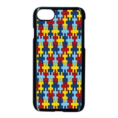 Fuzzle Red Blue Yellow Colorful Apple Iphone 7 Seamless Case (black) by Mariart
