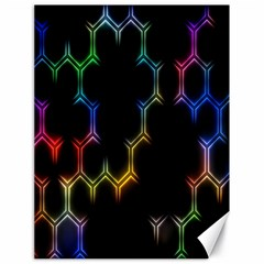 Grid Light Colorful Bright Ultra Canvas 18  X 24   by Mariart