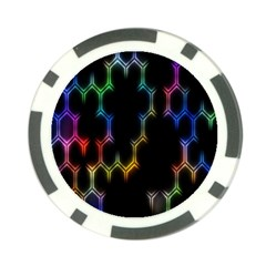 Grid Light Colorful Bright Ultra Poker Chip Card Guard by Mariart