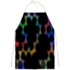 Grid Light Colorful Bright Ultra Full Print Aprons