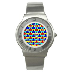 Game Puzzle Stainless Steel Watch by Mariart