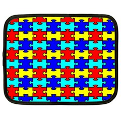 Game Puzzle Netbook Case (large) by Mariart