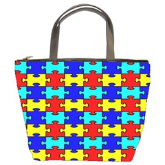 Game Puzzle Bucket Bags by Mariart