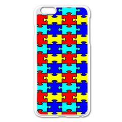 Game Puzzle Apple Iphone 6 Plus/6s Plus Enamel White Case by Mariart