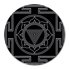 Kali Yantra Inverted Round Mousepads by Mariart