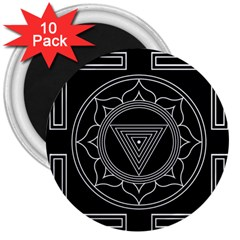 Kali Yantra Inverted 3  Magnets (10 Pack)  by Mariart