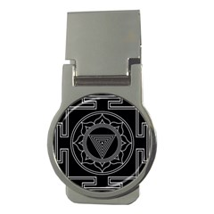 Kali Yantra Inverted Money Clips (round)  by Mariart