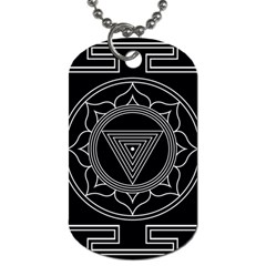 Kali Yantra Inverted Dog Tag (one Side) by Mariart
