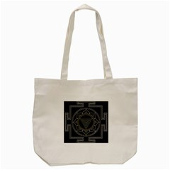 Kali Yantra Inverted Tote Bag (cream) by Mariart