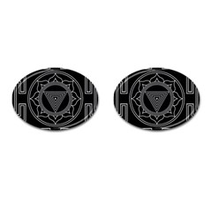 Kali Yantra Inverted Cufflinks (oval) by Mariart