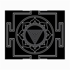 Kali Yantra Inverted Small Glasses Cloth (2-side) by Mariart