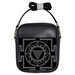 Kali Yantra Inverted Girls Sling Bags by Mariart