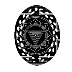 Kali Yantra Inverted Oval Filigree Ornament (two Sides) by Mariart